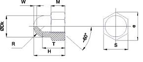 Гайки шестигранные ГОСТ 11860