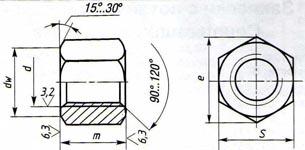 Гайки шестигранные ГОСТ 5927-70