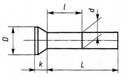 Заклепки с потайной головкой ГОСТ 10300-80